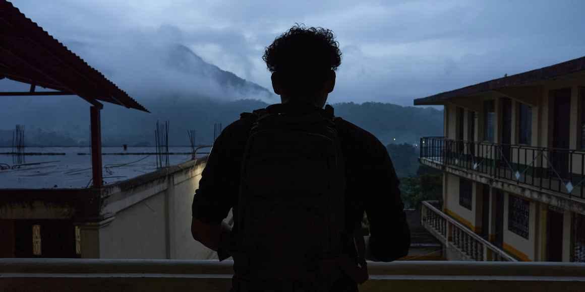 Photo of silhouette of Bastien Rodriguez in Guatemala