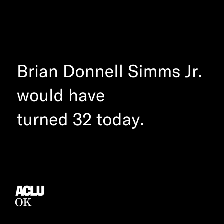 Brain Donnell Simms Jr. would have turned 32 today