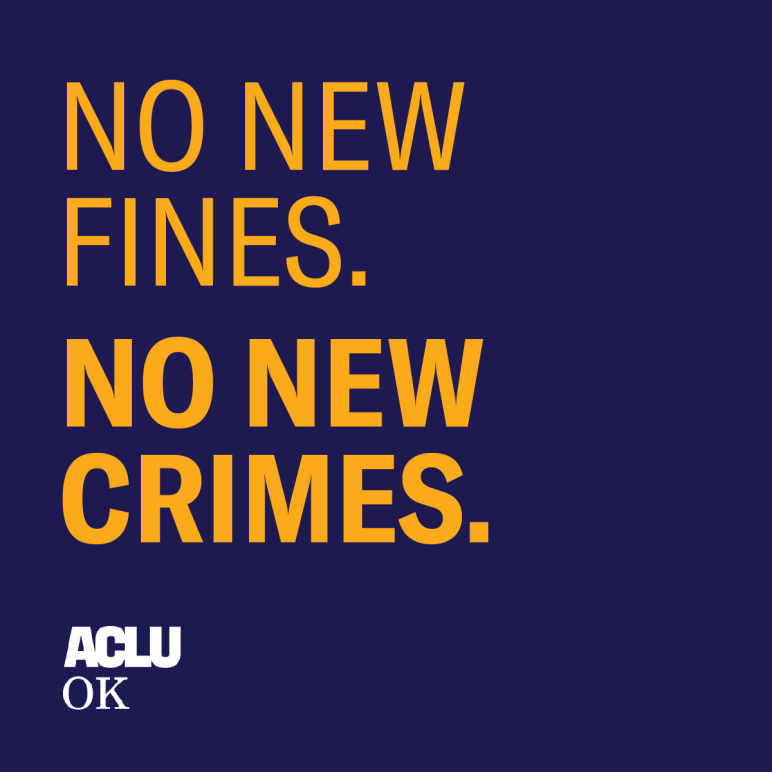 No new fines. No new crimes.