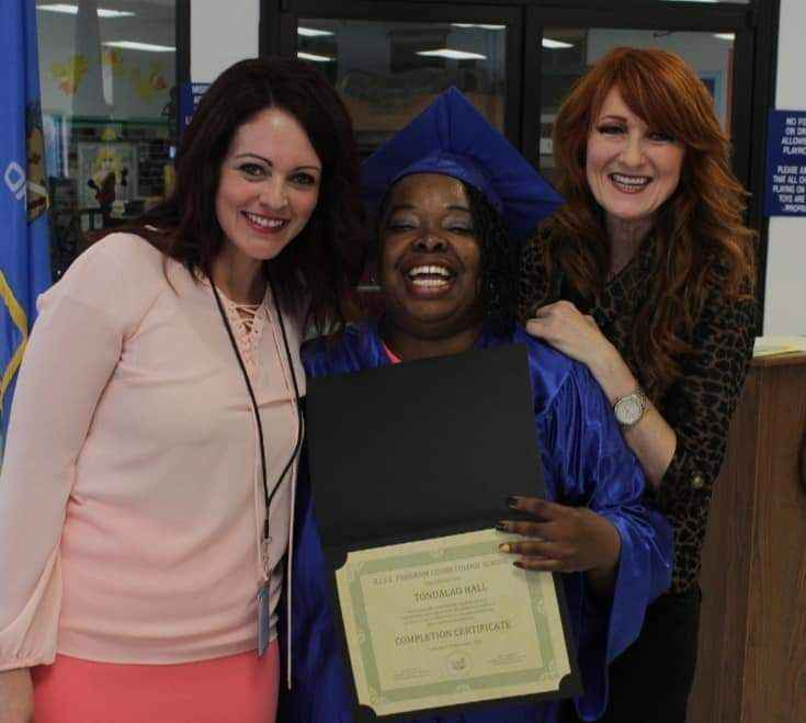 Tondalao Hall's Cosmetology Graduation