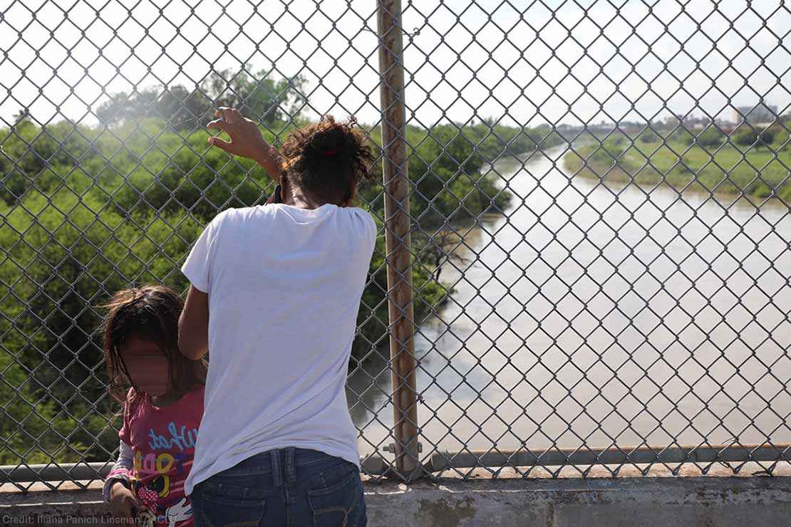 Mother and Daughter at the US Southern border